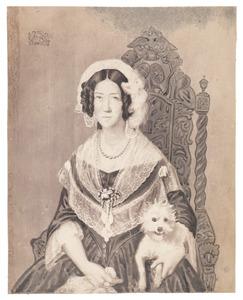 Portret van Justine des H.R. Rijksbarones van Spaen (1780-1853)