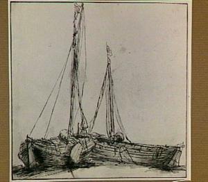 Twee vissersboten