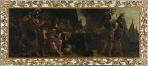 Mucius Scaevola steekt zijn hand in het vuur voor Porsenna