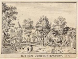 Gezicht in het dorp Schoonrewoerd
