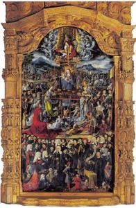 De Madonna omgeven door de drieëenheid, heiligen en donors