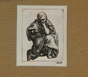 Zittende figuur met een boek (evangelist?)