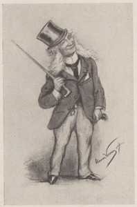 Karikatuurportret van David Bles (1821-1899)