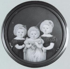 Portret van de dochters van Jacob Abraham van Lennep en Anna Willink
