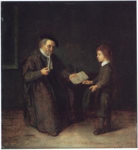 Schoolmeester en leerling