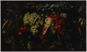 Guirlande van vruchten en noten