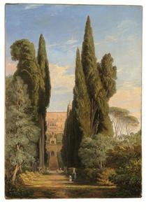Cypressen bij Villa d' Este, Tivoli