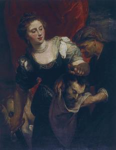 Judith steekt het hoofd van Holofernes in een zak ( Judit 10-13)
