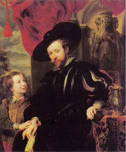 Portret van Peter Paul Rubens (1577-1640) en zijn zoon