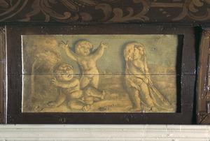 Spelende putti met een verwijzing naar Hercules