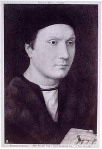 Portret van een man met gevouwen handen (mogelijk Folco Portinari)