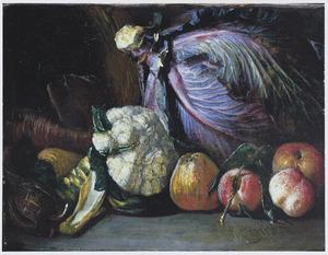 Stilleven van groente en fruit