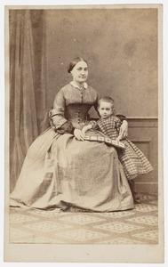 Portret van een onbekende vrouw met meisje