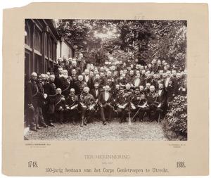Herinnering aan het 150-jarig bestaan van het Corps Genietroepen te Utrecht