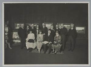 Huldiging W.B. Tholen in de kunstzaal Kleykamp, 13 februari 1930