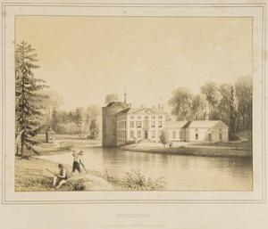 Gezicht op kasteel Rozendaal