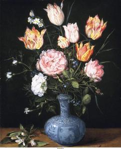 Bloemen in een Wanli Gendi