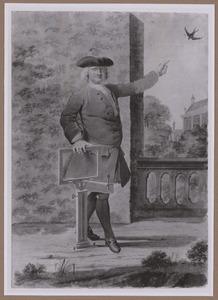 Portret van de kunstenaar Cornelis Pronk (1691-1759)