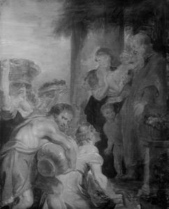 Landlieden vereren de heilige familie