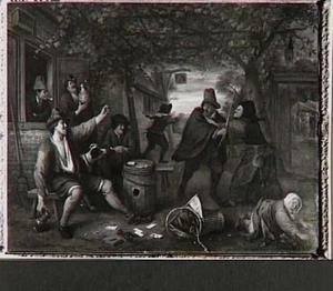 De vechtende kaartspelers