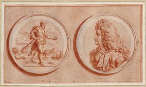 Hercules met de appels van de Hesperieden, en een portret van Frederik III van Brandenburg
