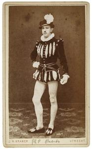 Portret van Philip Pelgrim Carel Henri Everts (1861-1886) als Willaume de Keijser