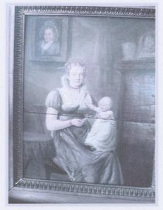 Dubbelportret van Hillegonda van Geuns (1791-1866) en Catharina de Vries (1815-1889)