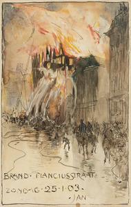 Brand, Planciusstraat, zondag 25 januari 1903