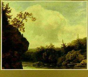 Verlaten berglandschap met rivier