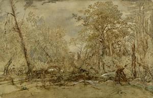 Omgehakte bomen op het Ile de Croissy
