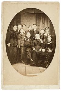 Portret van familie Korff