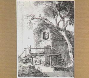 Huis met bruggetje aan een sloot