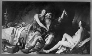 Lot door zijn dochters dronken gevoerd (Genesis 19:30-38)