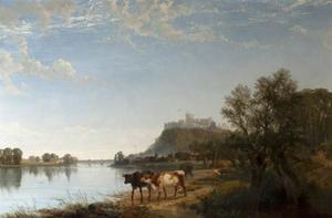 Rivierlandschap met koeien, Windsor Castle op de achtergrond