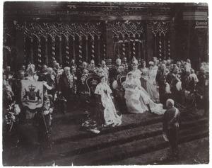 De inhuldiging van koningin Wilhelmina (1880-1862)