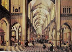 Kerkinterieur van de kathedraal van Antwerpen
