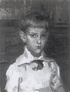 Portret van H.W. Glerum op zevenjarige leeftijd