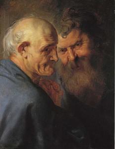 Hoofden van twee apostels