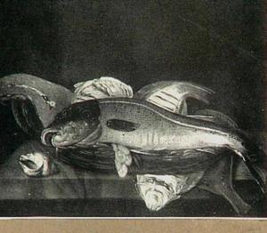 Vissen in mand op tafel