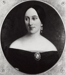 Portret van Christine Elisabeth da Silva (1809-1881)