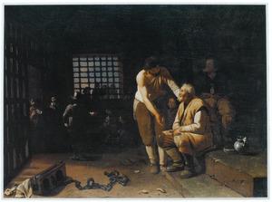 Het bezoeken van de  gevangenen (een van de zeven werken van barmhartigheid