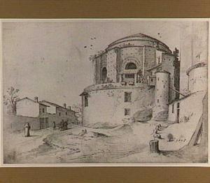 Rome, Santa Maria delle Febbre met de grafkapel van Sixtus IV en rechts de muur van de oude Sint Pieter