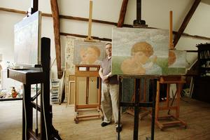 Co Westerik in zijn atelier
