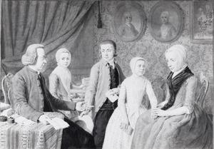 Familieportret van Gottfried Schneevoogt (1744-1802), Catharina Voorhelm (1742-1800) en drie kinderen