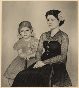 Portret van moeder en dochter