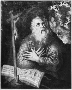 De H. Paulus de kluizenaar mediterend in de wildernis