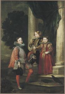 Portret van drie kinderen, mogelijk uit de De Franchi-familie