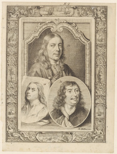 Portretten van Samuel van Hoogstraten (1627-1678), Jan van Hoogstraten (....-1654) en Johannes Lingelbach (1622-1674)