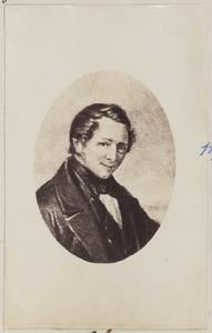 Portret van een man, mogelijk Johannes Bernardus Scheuer (1807-1867)