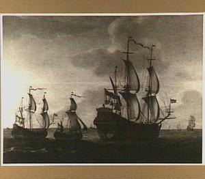 Bewogen water met het schip 'De Alkmaar'